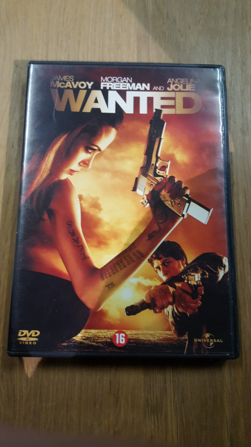 dvd , wanted, oa ,james mcavoy