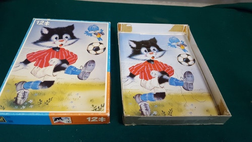 puzzel voetbal poes